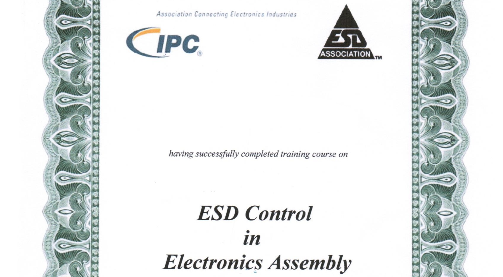 ESD CONTROL İN ELECTRONİCS ASSEMBLY